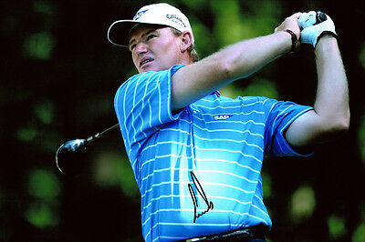 Ernie ELS HAND SIGNED Autograph 12x8 Photo AFTAL COA South African Golf Player