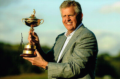 Colin Montgomerie HAND SIGNED Autograph Ryder Cup Captain 12x8 Photo AFTAL COA