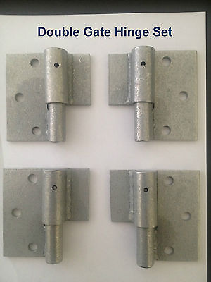 GATE HINGES- SUIT DOUBLE GATE - HEAVY DUTY BALL BEARING GATE HINGES 2 x PAIRS
