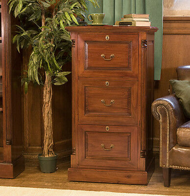 Hudson mahogany furniture 3 drawer filing cabinet large