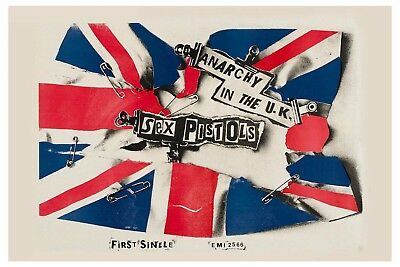 PUNK: Sex Pistols * Anarchy in The UK * Promo Poster