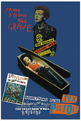 PUNK: Sex Pistols * From Beyond The Grave* Promo Poster  12x18