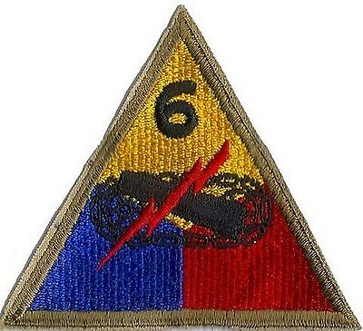 US ARMY 6TH ARMORED DIVISION PATCH  - ORIGINAL WWII ERA