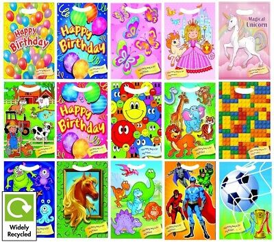 Childrens Birthday Party Bags - Loot Treat Gift Candy Bags - Cello Bag