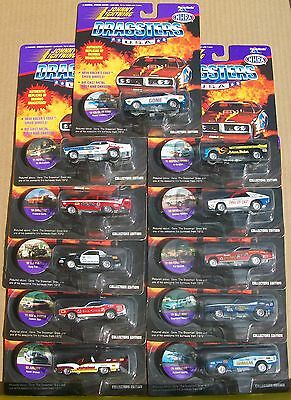 SET of 11 JOHNNY LIGHTNING COLLECTORS EDITION DRAGSTERS