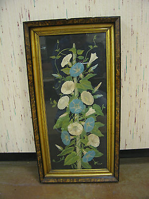 Antique Late 19th Early 20th Century Picture of Flowers in Nice Frame