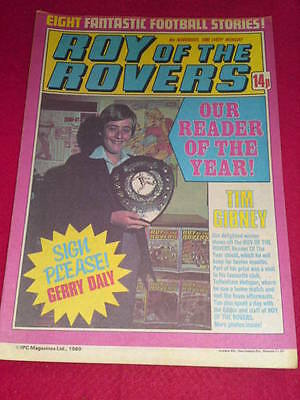 ROY OF THE ROVERS COMIC -  READER OF THE YEAR - Nov 8 1980