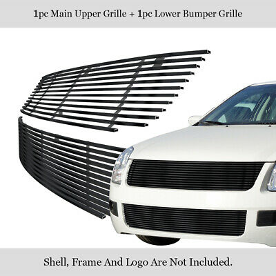 For 06-09 Ford Fusion Black Billet Grille Grill Combo Insert