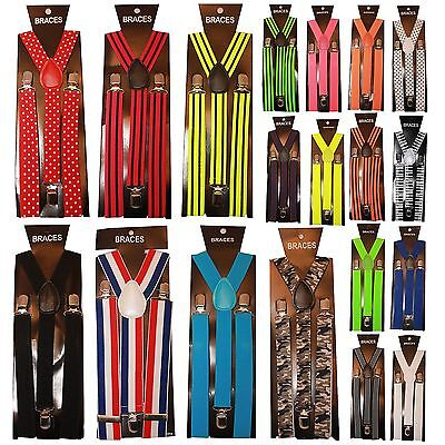 Unisex Men / Ladies / Women Adjustable Braces Suspenders Y Belt Fancy Dress