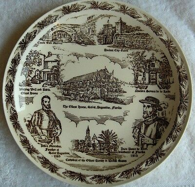 Vernon Kilns St Augustine Florida collector plate~Oldest city in the USA~NR