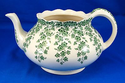 Crown Ducal EARLY ENGLISH IVY - GREEN Tea Pot No Lid 4.25 in. Vines White