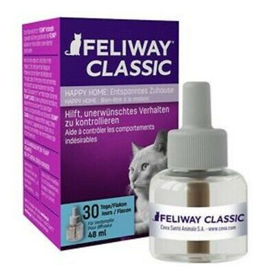 3 x Feliway Nachfüll-Flacon Happy Home 48ml Refiller (3 Monate) / 100ml=35,42€