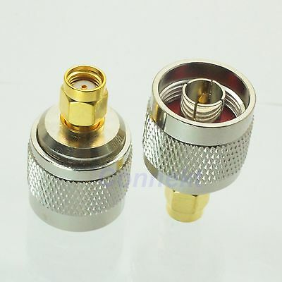 1pce N male plug to RP-SMA male jack RF adapter connector