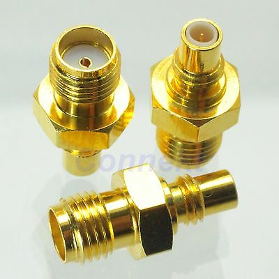 1pce SMC male plug to SMA female jack RF coaxial adapter connector