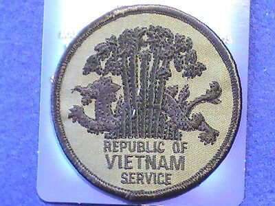 """Patch Military  Vietnam Subdued color """"The Repubic of Vietnam Service"""""""