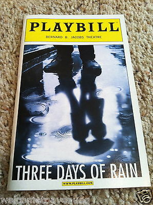 THREE DAYS OF RAIN Broadway Playbill JULIA ROBERTS Bradley Cooper PAUL RUDD