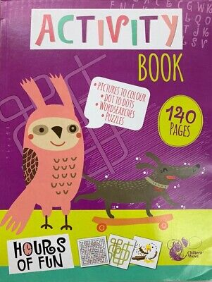 Activity Book 264 Pages A4 Jumbo Children Kids Colouring Puzzle Wordsearch Ss531