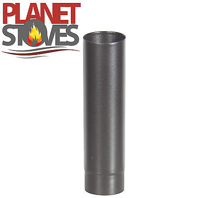 "500mm Vitreous Multifuel Enamelled Flue / Stove Pipe 4"" 5"" 6"""