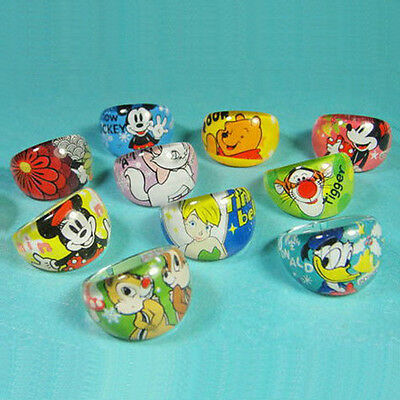 Wholesale Lots 100pcs Lovely Cartoon Chunky Lucite Children Rings
