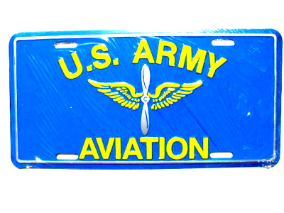 License Plate, US Army AVIATION -NEW