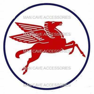 "MOBIL Oil Pegasus Gasoline 4"" Vinyl Decal Sticker"