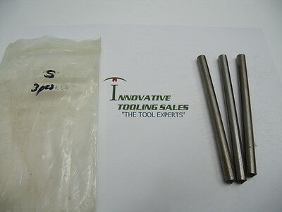S Dia 5 INCH OAL Drill Blank High Speed Steel Bright Cleveland Brand 3pcs