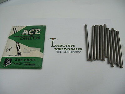G Dia 4 IN OAL Drill Blank High Speed Steel Bright Ace Brand 12pcs