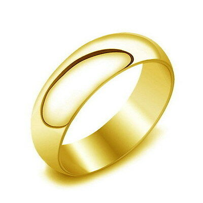 Wholesale 36pcs 6mm Gold 316L Stainless Steel Plain Wedding Band Jewelry Rings