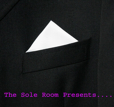 White 1 Point Pocket Handkerchief For Suit Jackets Crombies - Events - Weddings