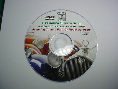 Pocher 1/8 Alfa Romeo Supplemental Instruction Dvd-Rom