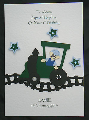 Personalised Train Birthday Card Grand God Son Nephew 1st 2nd 3rd 4th 5th 6th