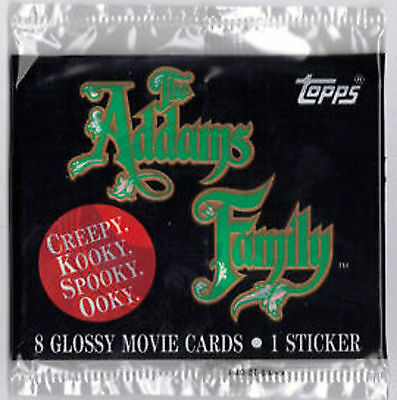 Adams Family Movie Trading Card Booster Pack New Sealed