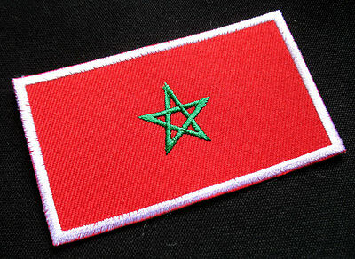 KINGDOM OF MOROCCO MOROCCAN NATIONAL FLAG Sew on Patch + Free Shipping