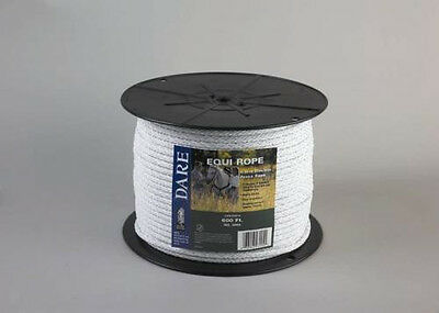 Extra Heavy Duty USA Dare White Equi-Rope Electric Horse Fence Braid 656ft
