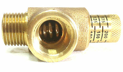 "NNI 1/2"" NPT Calibrated Pressure Relief Valve 50-200 Psi Adjustment BPR050C"
