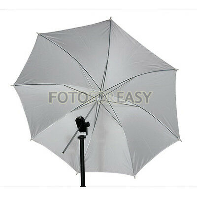 "33"" 83cm Studio Strobe Flash Light Reflector Soft Translucent White Umbrella NEW"