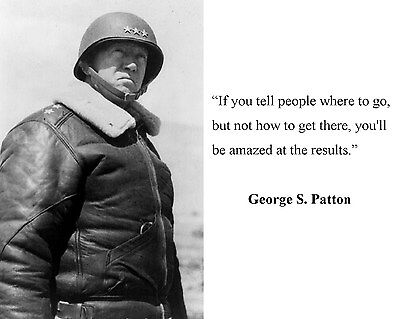 General George S Patton World War 2 WWII Quote 8 x 10 Photo Picture #c2
