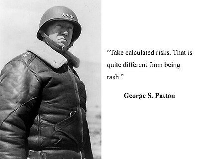 General George S. Patton World War 2 WWII Quote 8 x 10 Photo Picture #k2