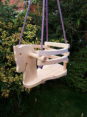 New Wooden Horse Safety Swing