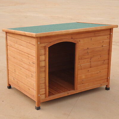 NEW SIZE 117*86*84CM X-Large Log Cabin Timber Pet Dog Kennel House P016