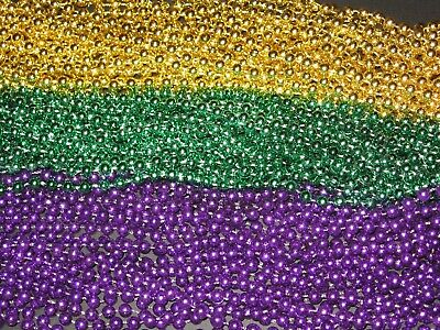200 Purple, Green & Gold (Pgg) Mardi Gras Beads-Party Favors-Free Shipping!