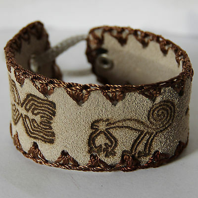 Peruvian Stamped Surfer Wristband Bracelet - Women Girls Boys