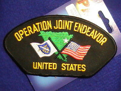 """Patch Military US """" Operation Joint Endeavor"""" United States & Insignia,Hat Patch"""