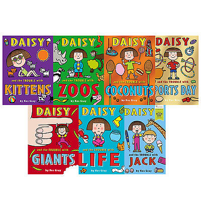 Daisy and the Trouble Collection Pack Kes Gray 6 Books Set