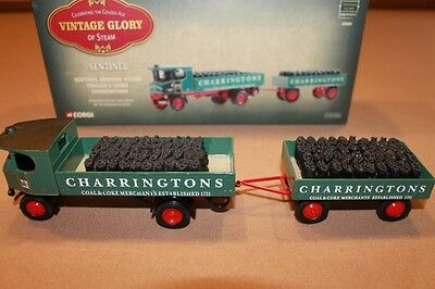 CORGI Vintage Glory of Steam Sentinel Dropside Wagon & Trailer 80009 1:50