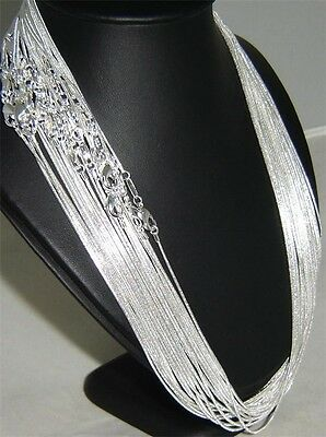 """WHOLESALE Silver Plated Men/Women SNAKE CHAIN NECKLACE 16""""-24"""" 1mm 2mm Finding"""
