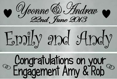 Personalised Silver Wedding Anniversary Engagement Banner Party Decorations