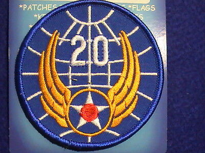 "Patch US Military US Army Air Corps ""20th Air Force"" Unit Patch, full color"