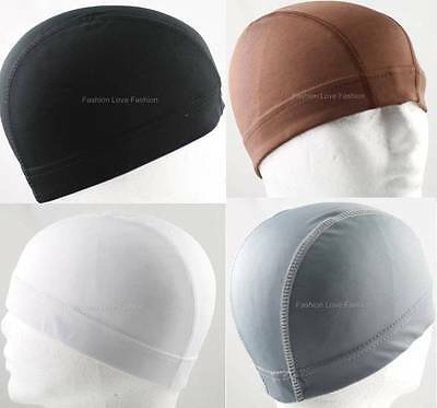 1 Piece Spandex Dome Cap Helmet Liner Sports Biker FootBall Beanie Hat Headwrap