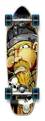 NEW VIKING Graphic Complete Longboard Mini Cruiser / Banana Cruiser skateboard
